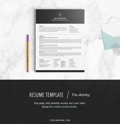 cool Resume Template | The Ashley