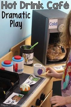 Our Hot Drink Café will energize your dramatic play center - no caffeine necessary! via @PlayToLearnPS