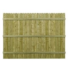 Barrette 6 ft. H x 8 ft. W Pressure-Treated 4 in. Dog-Ear Fence Panel-73000473 - The Home Depot