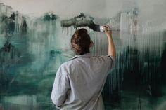 "thesoutherly: ""Artist Emma Fineman by Harry Glazier """