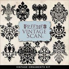 Freebies Vintage Ornaments Kit