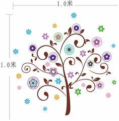 Abstract Flower Star Tree Wall Sticker Decal Art Nursery Kid Room DIY Material | eBay