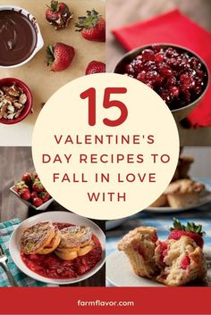 Recipe roundup for Valentine's Day features dinner ideas as well as desserts featuring strawberries and chocolate. Breakfast Bites, Sweet Breakfast, Recipe Collector, Happy Chocolate Day, Christmas Morning Breakfast, Chocolate Mousse Recipe, Strawberry Cakes, Strawberries And Cream, Sweet Desserts