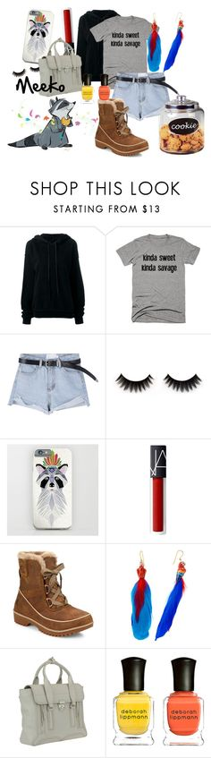 """Meeko Inspired"" by rarimena ❤ liked on Polyvore featuring Unravel, SOREL, Nach Bijoux, 3.1 Phillip Lim, Deborah Lippmann, contest, disney, casualoutfit and disneybound"