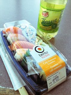 """March 4, 2013 Sushi as a breakfast. This is literately """"breaking"""" fast. Hope to feel better soon. ;("""