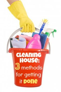 Most women aren't excited about cleaning. But it has to be done. So the best strategy is to do it as quickly and efficiently as possible.  If you don't have a system or if your system isn't working the way it used to, this post explains in detail three methods for getting the house clean so you can do the things you really enjoy!