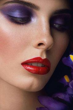 Beautiful Eye Makeup, Beautiful Lips, Lovely Eyes, Pretty Eyes, Sexy Make-up, Dark Red Lips, Pink Lips, Fantasy Makeup, Beauty Makeup