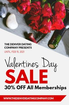 How can you meet single seniors and spice up your dating life? The Denver Dating Company has an offer you can't refuse with a 30% discount on all new memberships. This offer is valid upto February 15, 2021. Get started today @ (720) 307-3595. Singles Events, Meet Singles, Valentine Special, Valentines, Date Topics, Find Your Match, Las Vegas Trip, February 15, Social Activities
