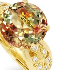 KAT FLORENCE Zultanite and D Flawless Diamond Ring.
