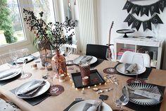 Himbeerblues: DIY: Silvester-Dinner Dekoration aus Kupfer und Neujahrs-Gewinnspiel