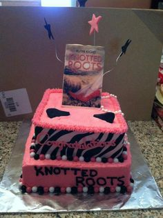 Book Birthday cake for Knotted Roots