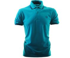 1fd298b3 Fred Perry Original Twin Tipped Polo Shirt Jade - Terraces Menswear