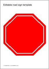 editable road sign templates sb8448 sparklebox transportation