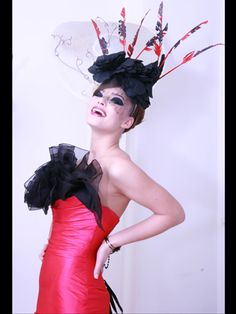 Fuchsia and black couture evening gown  KE 0801  Photo credits: Styling: Acclaim Models