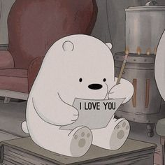 we bare bears ily. Cartoon Wallpaper, Bear Wallpaper, Disney Wallpaper, Ice Bear We Bare Bears, We Bear, Cartoon Cartoon, We Bare Bears Wallpapers, Cute Wallpapers, Collage Mural