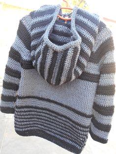Crochet - Crosia Free Patttern Urdu, Hindi Video Tutorials: Hoodie sweater 2