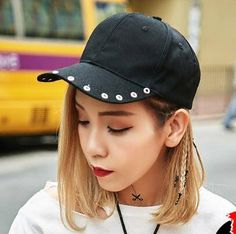 f7c83895d3f Personalized baseball cap with metal ring for teenage girls UV protection  hats