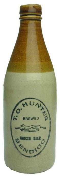 Auction 25 Preview   368   Hunter Bendigo Greyhound Stone Ginger Beer Bottle