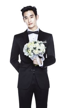 *Le sigh* A man who rocks a suit and brings over a lovely bouquet of flowers because he wants to marry you right away. ~ Kim Soo Hyun