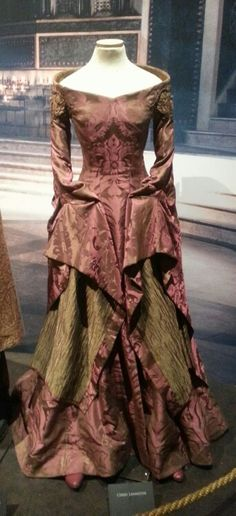 Cersei Lannister gown from Game of Thrones exhibition.
