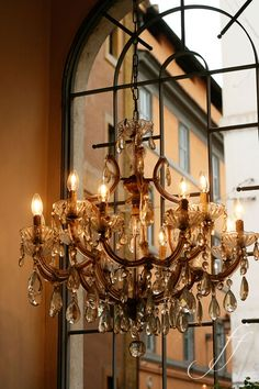 Stunning chandelier in Rome. Photo by Alexandra Panella