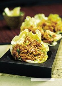 Chicken Lettuce Wraps Author: The Rest of the Best – Best of Bridge Recipe type: Appetizer, Main Yield: 4 servings Excerpted from T. Healthy Chinese Recipes, Asian Recipes, Healthy Recipes, Chicken Flavors, Chicken Recipes, Recipe Chicken, Chicken Lettuce Wraps, Lettuce Cups, Wrap Recipes