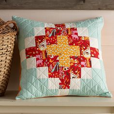 Tree House Chimney Sweep Pillow Cover - Free Sewing and Quiting pattern for download #freesewingpatterns #patternsforsewing