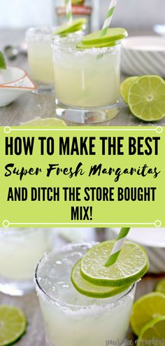 In the event that you are searching for the ideal summer drink, at that point this Homemade Fresh Margarita Recipe is for you! Party Drinks, Cocktail Drinks, Fun Drinks, Healthy Drinks, Cocktail Recipes, Alcoholic Drinks, Beverages, Mixed Drinks, Fresh Margarita Recipe