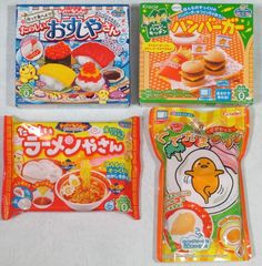 4 Pcs Japanese Candy DIY Kits Kracie Popin Cookin Sushi Hamburger Ramen Gudetama #KracieHeart