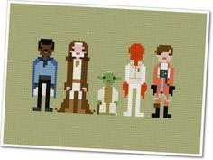 Pixel People  Star Wars  Allies  PDF by weelittlestitches on Etsy, $5.00  My inner nerd is showing!