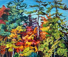 Acrylic on Gallery Canvas Currently for sale at Anthony's Gallery in Whitby Art Projects For Adults, Diy Art Projects, Diy Artwork, Diy Arts And Crafts, Photo Art, Images, Autumn, Landscape, Abstract