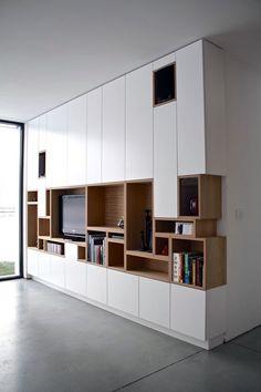 40 Unique TV Wall Unit Setup Ideas - Bored Art                                                                                                                                                      More