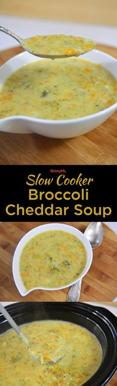 Slow Cooker Broccoli Cheddar Soup