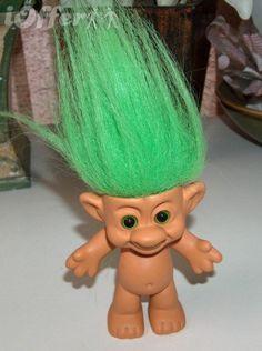Troll doll with green hair #troll