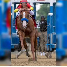 Justify, out of the gate at the Belmont Stakes