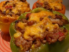 Carmen's Kitchen: Stuff it! Low Carb Cheesey Stuffed Peppers Recipe