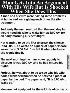 Man Gets Into An Argument With His Wife But Is Shocked When She Does This funny jokes story lol funny quote funny quotes funny sayings joke hilarious humor stories marriage humor funny jokes best jokes ever best jokes More