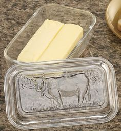 Always will remember my Great Grandma White keeping her butter in a glass dish on her kitchen table.