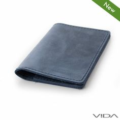VIDA – Slim Leather Wallet – blue