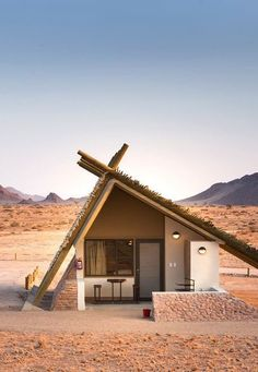 One of the newer camps within easy reach of the NamibNaukluft National Park, Desert Quiver Camp offers a comfortable selfcatering option for independent travellers Visit Namibia Timbuktu Travel is part of Tiny house cabin - Silo House, Mud House, Tiny House Cabin, Tiny House Design, Cabin Homes, Bamboo House, A Frame House, Desert Homes, Cabins And Cottages
