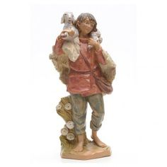 Pastore con pecora 30 cm presepe Fontanini 30 cm | vendita online su HOLYART