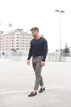 http://chicerman.com  bangarangblog:  simplicity  shop the look:  tee  pants  shoes  #streetstyleformen