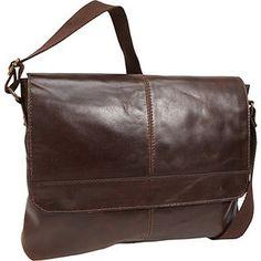 R & R Collections 1/2 Flap Messenger Bag
