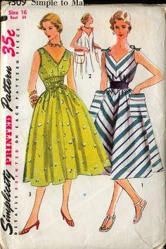 Simplicity 4309 sewing dress pattern