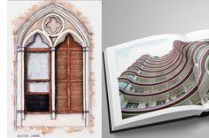 As portas, as janelas, os prédios e as casas de São Paulo.