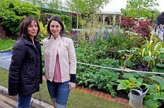 "Olivia Arias-Harrison and Mary McCartney (at the 2008 Chelsea Flower Show ""A Garden For George"")"