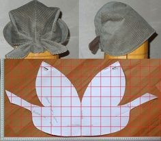 The best DIY projects & DIY ideas and tutorials: sewing, paper craft, DIY. DIY Women's Clothing : modello e schema taglio per cucire bandana cappellino vintage -ReadVintage sewing template: Italian pattern for Bandana Vintage, a style kerchief hat wi Sewing Hacks, Sewing Tutorials, Sewing Crafts, Sewing Projects, Diy Crafts, Doll Patterns, Clothing Patterns, Sewing Patterns, Sewing Clothes