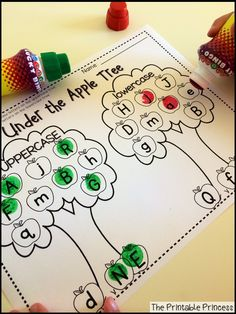 Identifying uppercase and lowercase letters. Use a crayon or a bingo dabber!