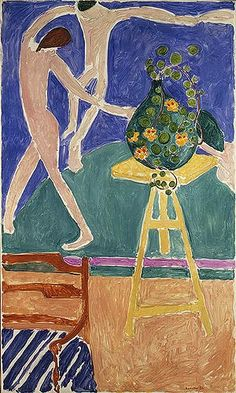 "Henri Matisse (French, 1869–1954), Nasturtiums with the Painting ""Dance"", 1912. Oil on canvas, 75 1/2 x 45 3/8 in. (191.8 x 115.3 cm)."