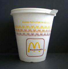 1980s McDonald's styrofoam coffee cup